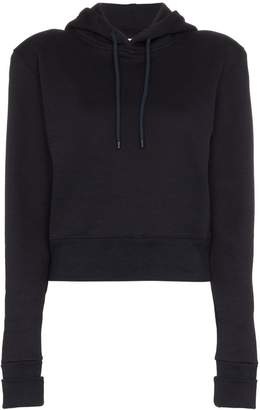A_Plan_Application cropped fitted cotton hoodie