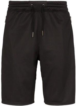 Givenchy Ticker logo stripe track shorts