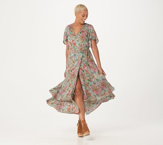 Haute Hippie Tribe 'Luna' Wrap Maxi Dress