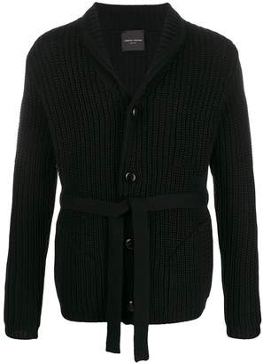 Roberto Collina belted knit cardigan