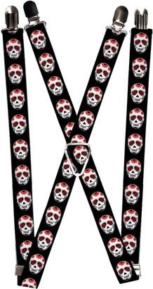 Buckle Down Buckle-Down Men's Suspender-Sugar Skulls