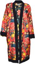 Fausto Puglisi Floral Print Kimono Coat From Red Floral Print Kimono Coat With Open Front, All-over Print Design, Long Sleeves And A Straight Hem.