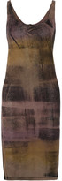 Raquel Allegra Tie-dyed Stretch Cotton-blend Jersey Dress - Brown