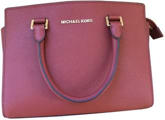 Michael Kors Selma Red Leather Handbags