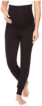 Beyond Yoga Cozy Fleece Maternity Sweatpants (Black) Women's Workout