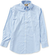 Roundtree & Yorke Gold Label Perfect Performance Non-Iron Long-Sleeve Dobby Check Sportshirt