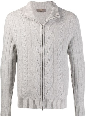 N.Peal Zip Up Chunky-Knit Sweater