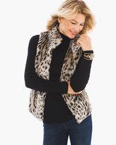 Chico's Animal-Print Faux-Fur Vest