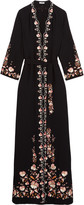 Vilshenko Beatrice embroidered crepe maxi dress