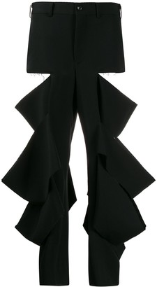 Comme des Garcons Ripped High-Rise Trousers