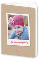 Minted Album Holiday Booklette Card