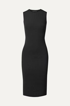 The Row Devi Stretch-scuba Dress - Black