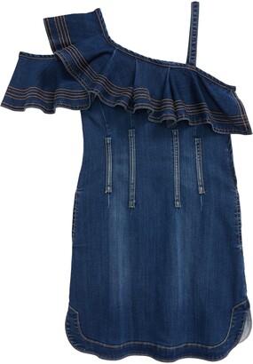 Habitual Ruffle Cold-Shoulder Denim Dress