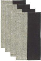 Kate Spade Cary Street Napkin Set - Flaxseed/Black - 20 x 20