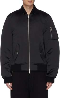 Taverniti So Ben Unravel Project Padded sateen bomber jacket