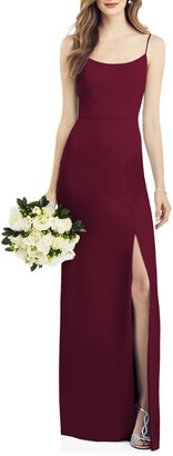 After Six Scoop Neck Crepe Gown