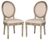 Safavieh Holloway Oval Side Chairs (Set of 2)