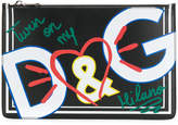 Dolce & Gabbana Graffiti print clutch bag