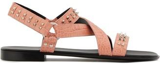 Giuseppe Zanotti Slingback Stud-Embellished Sandals