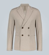 Harris Wharf London Rice stitch double-breasted blazer