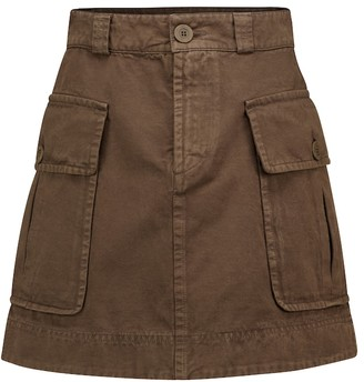 See by Chloe Cotton twill miniskirt