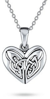 Bling Jewelry Butterfly Heart Knot Triquetra Celtic Necklace Sterling Silver Pendant