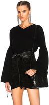 Zimmermann Maples Louche Sweater in Black.