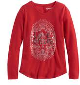 Mudd Girls 7-16 & Plus Size V-neck Thermal Graphic Tee