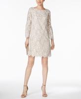 Jessica Howard Petite Lantern-Sleeve Lace Dress