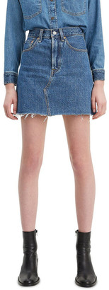 Levi's Hi Rise Decon Iconic Buttonfly Skirt