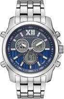 Sean John Men's Portofino Analog-Digital Silver-Tone Bracelet Watch 47mm