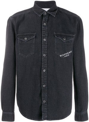 Givenchy Logo Denim Shirt