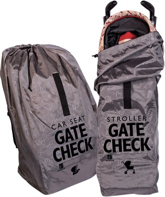 J L Childress Gate Check Car Seat & Single Stroller Bags Set