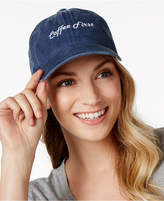 Steve Madden Coffee First Denim Baseball Cap