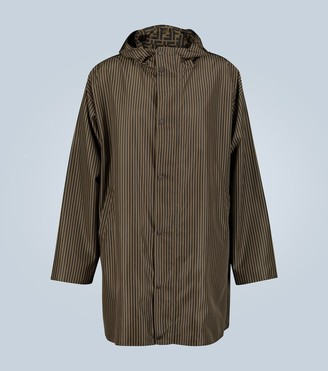 Fendi Long reversible parka with FF micropequi