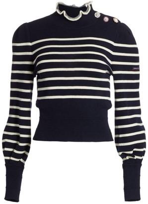 Marc Jacobs The Breton Ruffled Stripe Sweater