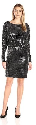 Jessica Howard JessicaHoward Women's Long Ruched Sleeve Blouson Dress