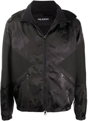 Neil Barrett camouflage pattern hooded jacket