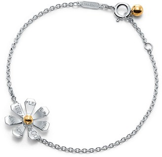 Tiffany & Co. Return to TiffanyTM Love Bugs daisy chain bracelet in sterling silver and 18k gold - Size Extra Small/Small