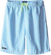 Toobydoo Neon Yellow Lace Drawstring Swim Shorts (Infant/Toddler/Little Kids/Big Kids)