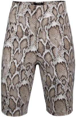 AFRM Callon Snake Print Knit Shorts