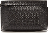Loewe Logo-embossed leather pouch