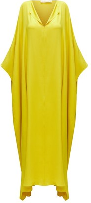 The Row Enrico Silk Kaftan Maxi Dress - Yellow