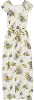 Joie Astilbe printed silk-georgette maxi dress