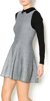Kling Grey Black Fitted Dress