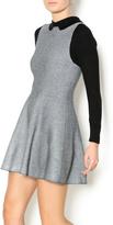 Kling Grey Black Fitted Dress