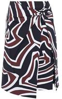 Emilio Pucci Knotted Printed Crepe Skirt