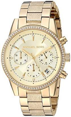 Michael Kors Women's Ritz Analog-Quartz Watch with Stainless-Steel-Plated Strap