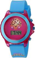 Shopkins Girls Quartz Plastic and Silicone Casual Watch, Color: (Model: KIN4034)