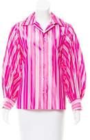 Ralph Lauren Black Label Striped Silk Top